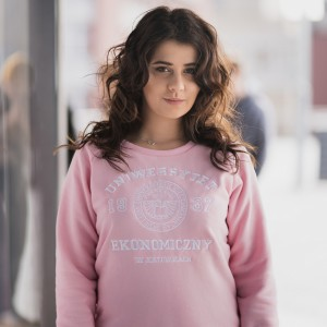 Bluza college pink